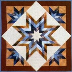 Iowa Lone Star quilt, designed and made by Judy Martin, 1987.
