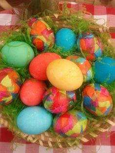 How To Make Mosaic Easter Eggs With A Stained Glass Look