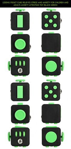 LEDeng Fidget Cube Relieves Stress And Anxiety for Children and Adults Anxiety Attention Toy (Black Green) #drone #products #racing #kit #camera #shopping #cube #technology #black #fpv #green #tech #parts #and #gadgets #plans #fidget