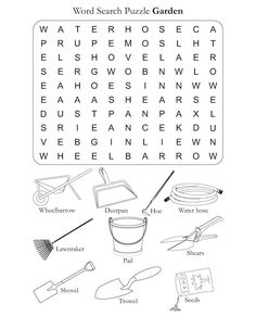 Word Search Puzzle Garden