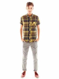 casual shirts; gap