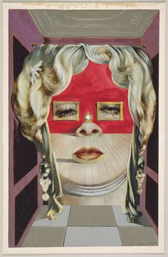 Salvador Dalí Spanish, 1904-1989, Mae West's Face which May be Used as a Surrealist Apartment