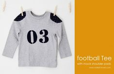 Little Boy Football Tshirt (with mock shoulder pads) | Make It and Love It