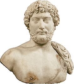 Marble portrait bust of the emperor Hadrian, found in the temple of the Olympieion, Athens ca. AD 130