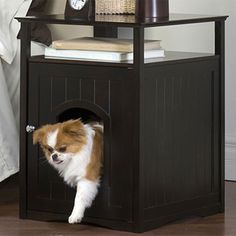 Satisfy your pet's instinctive need for feeling safe and secure with this innovative Cat Washroom Litterbox Concealer that can blend seamlessly with the rest of your indoor furniture.