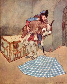 "The Tinderbox. From ""Andersen's Fairy Tales"" illustrated by Artuš Scheiner (1934)"