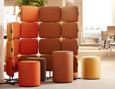Knoll at NeoCon 2016: Rockwell Unscripted Tags / Keywords:  NeoCon NeoCon 2016 Telly privacy screen Rockwell Unscripted David Rockwell Rockwell Group swivel stool Immersive planning interactive privacy KnollTextiles Media ID: 13066