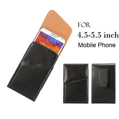 "Find More Phone Bags & Cases Information about Universal Phone Bag Belt Clip Holster Case for 4.5 5.5"" Mobile Phone Pouch Cover for Galaxy Note3 N7100/Huawei honor 6 plus,High Quality n7100 lcd,China phone necklace Suppliers, Cheap phone case for 3gs from Just Only on Aliexpress.com"