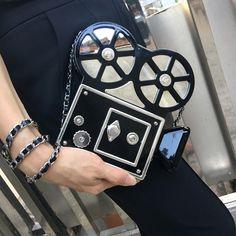 Bolsa Divertida Retro Câmera Filmadora Bolsa Clutch de festa com Alça – Bolsas Divertidas