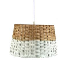 $70 White-Washed Wicker Pendant