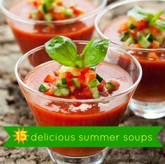 Summer Soups? Yes, Please! Summer Soups: 15 Cold Soup Recipe Ideas You only think soup is a winter food! This mouth-watering list of the best summer soups will change your mind. Puree your way to delicious flavor combos.