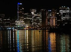 This photo from British Columbia, Western is titled 'Vancouver's Lights'. British Columbia, Vancouver, North America, New York Skyline, Bucket, Canada, Lights, Travel, Viajes