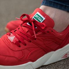 b494a24090b8a8 The Puma Womens Trinomic Trainer in red available online   in store.