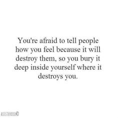 I take on your demons so I don't have to fight my own.