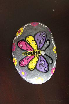Hand Painted Rock Rock Art Stone Art Butterfly