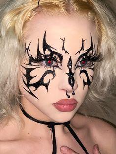 Punk Makeup, Edgy Makeup, Grunge Makeup, Unique Makeup, Creative Makeup Looks, Gothic Makeup, Clown Makeup, Crazy Makeup, Makeup Inspo