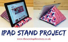 How to sew a stand for your ipad or tablet. I love this, I'm sooo going to make one for my Ipad.