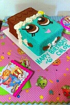Shopkins Cheeky Chocolate Birthday Cake