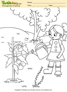 Water Plant Earth Day Coloring Page #Kids #Crafts #Coloring #TurtleDiary #ChildEducation