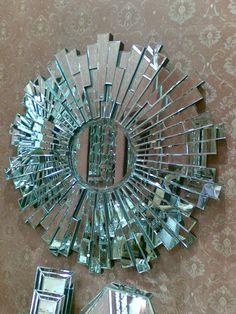 18 Modern Mirror Ideas >> For More Modern Mirror Decor Ideas Mirror Mosaic, Beveled Mirror, Mosaic Art, Mosaic Glass, Broken Mirror Projects, Broken Mirror Art, Spiegel Design, Mirror Crafts, Luxury Mirror