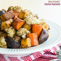 Balsamic Roasted Vegetables are a tasty and healthy way to eat your veggies! It's super easy to make roasted vegetables and balsamic vinegar adds amazing flavor to this simple side dish recipe. How to Roast Vegetables with Balsamic Vinegar This recipe may not be a novel concept, but I love roasting veggies. It just takes …