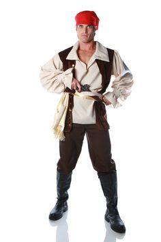 Caribbean Pirate Men's Costume