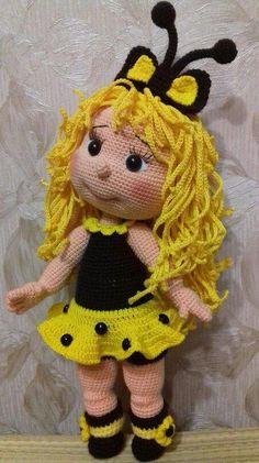 Lindos trabalhos com o crochê de bonecos feito de crochê