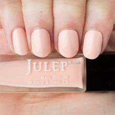 Currently in love with Julep's Brittany, a bleached apricot ghost shimmer crème. Julep nail polish is 5-free and vegan-friendly. They steer clear of formaldehyde, formaldehyde resin, toluene, DBP, camphor, and animal ingredients or byproducts. My nails have never been this healthy!