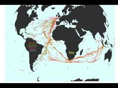 The origins of globalisation: 100 years of shipping routes.