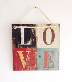 LOVE Beautiful Wooden Sign for the Home
