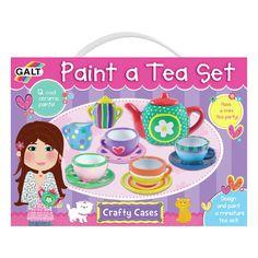 Galt Toys Paint A Tea Craft Set Contains 12 Ceramic Paints & Miniature Tea Set Creative Activities, Craft Activities, Hobbies And Crafts, Arts And Crafts, Activity Toys, Miniture Things, Tea Party, Ceramics, Crafty