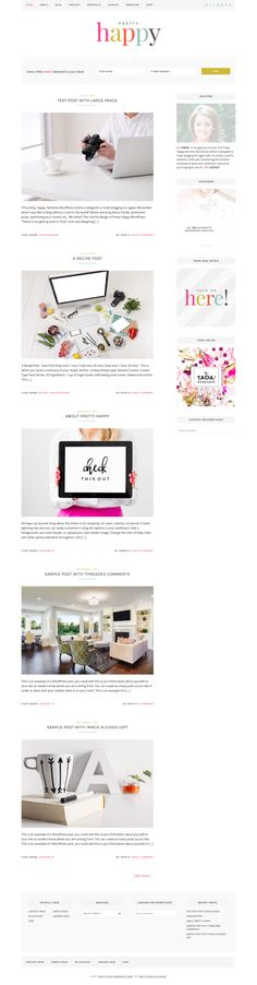 Pretty Happy is a fresh and responsive WordPress online e-commerce theme from Pretty Darn Cute Design developer club. This theme is coming with a clean,