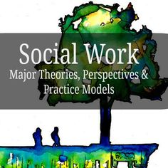 Social Work Theories scrapbook of info