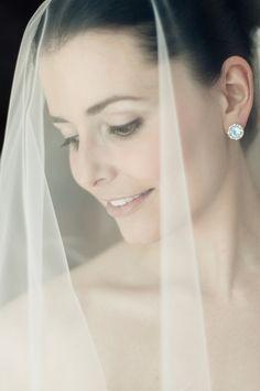 Gorgeous bridal portrait, stunning earrings