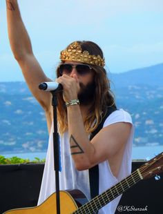 Jared Leto in Saint Tropez  Church of Mars Thirty Seconds to Mars July 24 2014