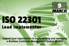 ► Bring Best Practices to work  ► ISO 22301 ISO 22301 Lead Implementer Course > 9-13 March > Register Now. http://www.behaviour-group.com/PT/?wysija-page=1&controller=email&action=view&email_id=81&wysijap=subscriptions