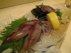 Firefly squid sashimi(ホタルイカ刺身)