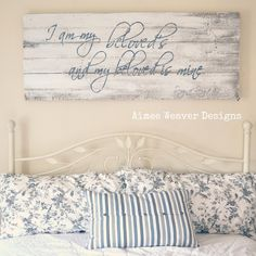 Image of Song of Songs Barn Door Sign .... one day...