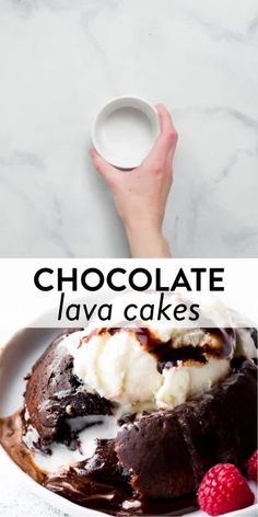 Rich and fudgy chocolate lava cakes come together with 6 simple ingredients. Ready in just 25 minutes, this easy dessert recipe always impresses. Recipe + video tutorial on sallysbakingaddiction.com #chocolatelovers #chocolaterecipes #baking #bakingvideos #easybakingrecipes Lava Cake Recipes, Lava Cakes, Chocolate Lava Cake, Chocolate Desserts, Easy Desserts, Dessert Recipes, Sallys Baking Addiction, Easy Baking Recipes, Pastry Cake