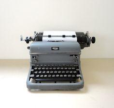 Old Royal Typewriter KMM In Grey An Antique Typewriter by KimBuilt, $99.00