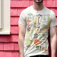 8793faf0b Mushrooms T-shirt Vintage Fungi illustration Graphic Tee Short-Sleeve  Unisex T-Shirt