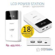 "Pilihan keren lainnya dari Pisen:  LCD Power Station 15000 mAh. Dengan fitur ""7s Protection System"" yang mampu mencegah pengisian berlebihan, tegangan yang tidak stabil, dan arus pendek. Cuma IDR 455  Online shopping: www.bukalapak.com/papazami  Fast Order: HP/WA/TG: 0815-1100-6400 BBM: 5E2E9F7F LINE ID: papazami  #pisen #pisenindonesia #pisenmart #pisenstore #pisenshop #pisenonline #powerbank #papazami #tokopapazami #onlineshop"