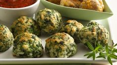 Make a veggie-lovers version of our classic and highly-rated Sausage-Cheese Balls appetizer.