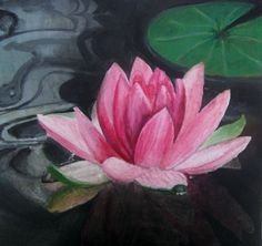 Pink Lotus   Despite the simplicity of this painting, More people have purchased prints of this painting from me than any other! What i make up about it is that lotuses are so evocative of spiritual growth and awakening.. as well as being a lusciously beautiful flower.  Acrylic on Canvas.