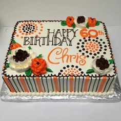 Blechkuchen - Cake Ideas to Try - # Sheet Cakes Decorated, White Flower Cake Shoppe, Sheet Cake Designs, Cake Design For Men, Birthday Sheet Cakes, Retirement Cakes, Fall Cakes, Birthday Cake Decorating, Cake Decorating Techniques