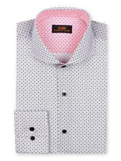 Men's Dress Shirt by Steven Land - Micro Dot Black/White