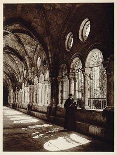 Kurt Hielscher, Cloisters of the Santa Mar'a Cathedral in Tarragona, 1925. (via:firsttimeuser)