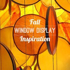 Create a seasonally appropriate Autumn window display to get customers excited about Fall merchandise.