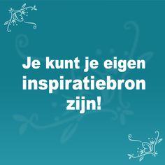 Je kunt je eigen inspiratiebron zijn! #WeightWatchers