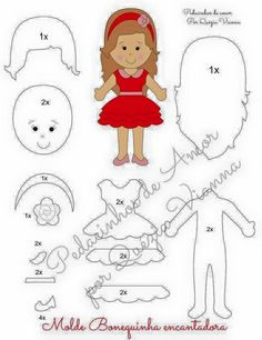 ideas about Felt Doll Patternsimages attach d 1 132 DIY Felt Crafts, Felt Crafts Patterns and Felt Craft For Bofriend.vintage dolls Click above VISIT link for more - Caring For Your Collectable Dolls. Felt Doll Patterns, Felt Crafts Patterns, Felt Crafts Diy, Quiet Book Patterns, Felt Diy, Dress Patterns, Fabric Dolls, Paper Dolls, Felt Quiet Books